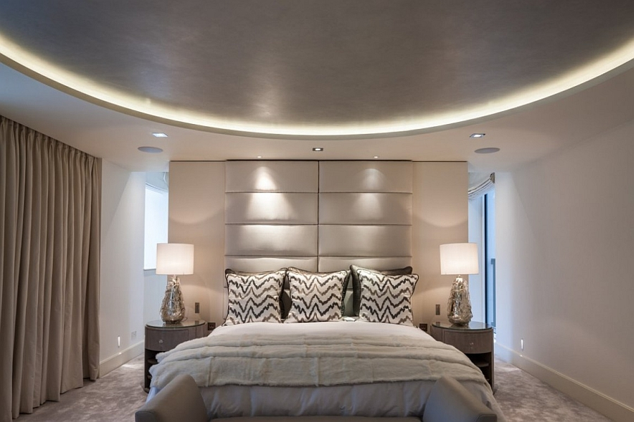 Plush modern bedroom in neutral shade