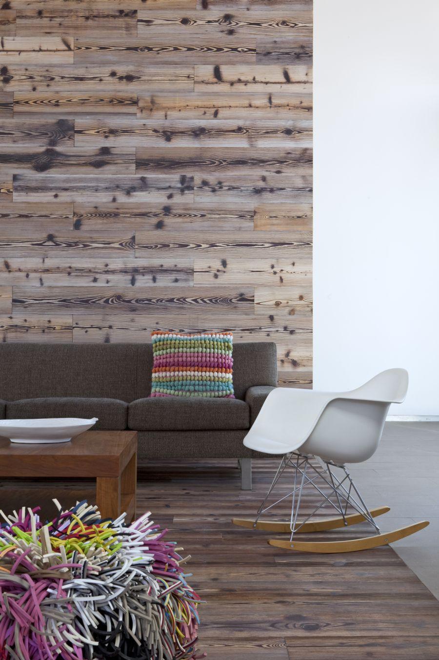 Plush wooden tones in the interior