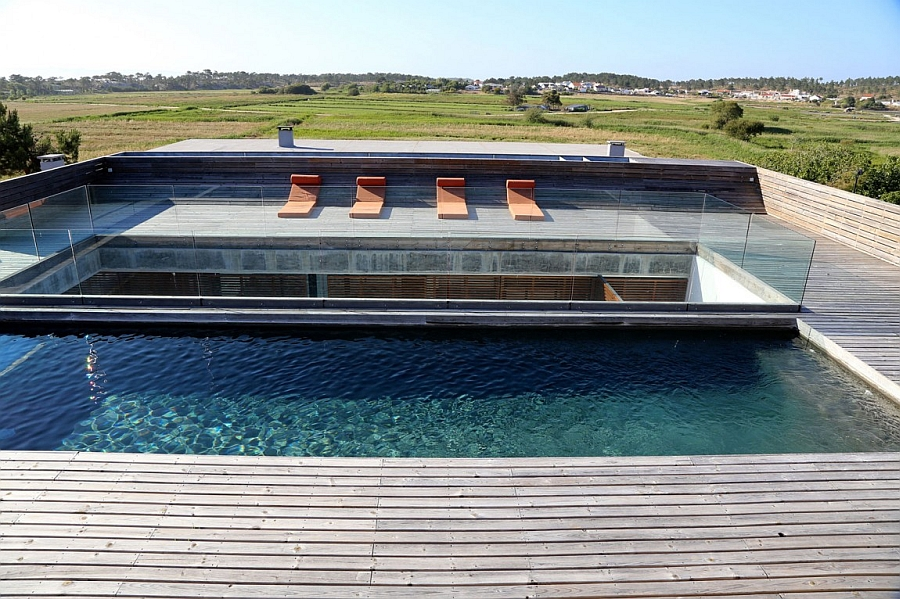 Private heated pool with luxurious deck space