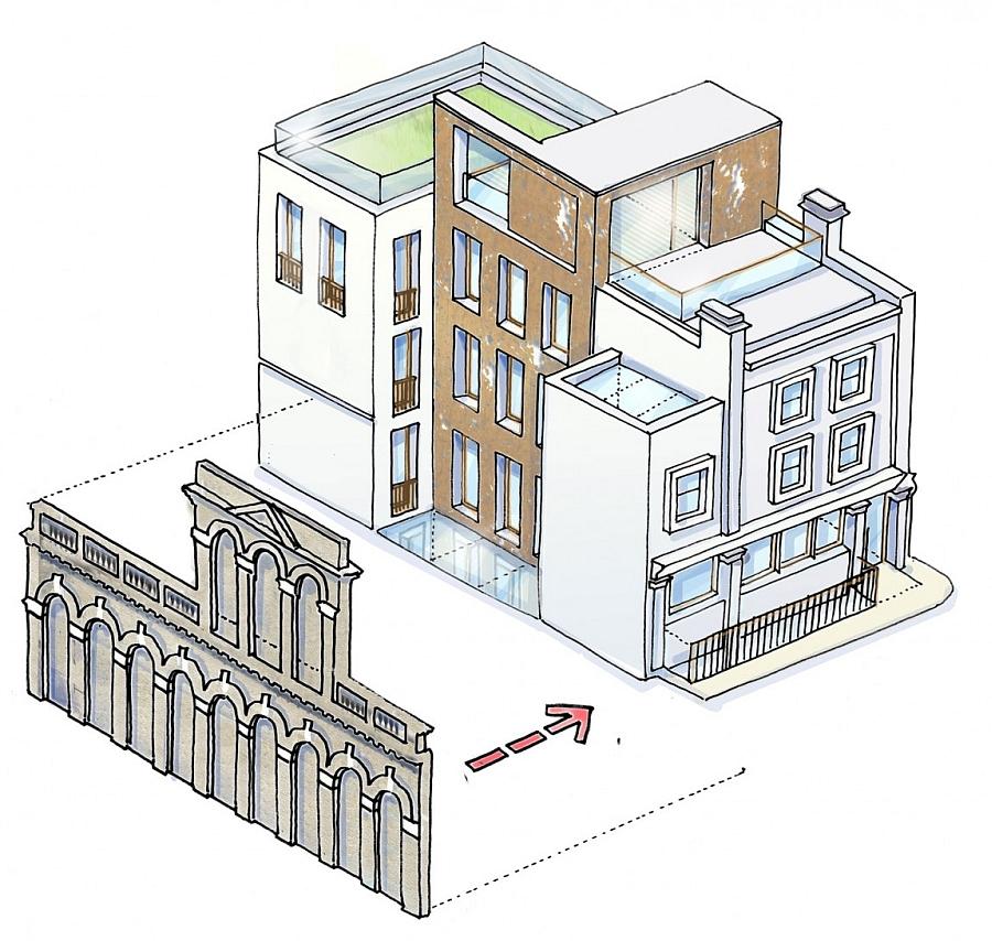 Rendering of the Mayfair House design
