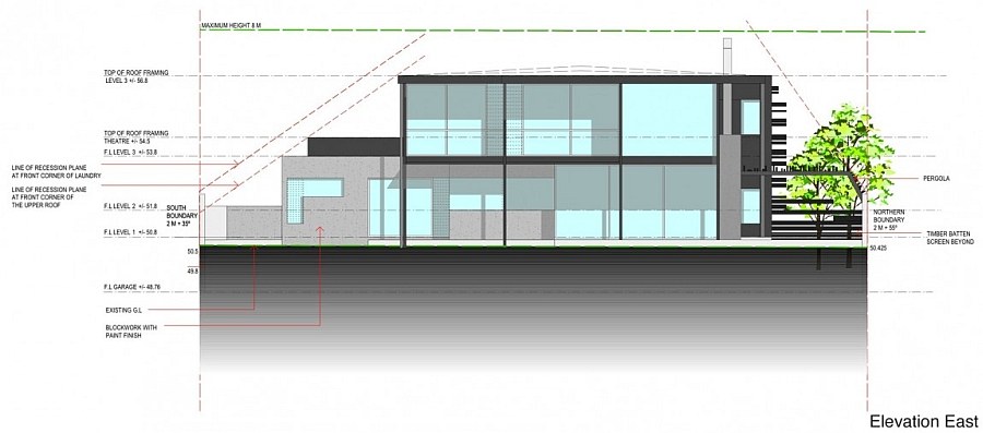 Representation of the East Elevation of Glendowie House