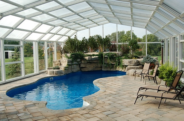 50 indoor swimming pool ideas taking a dip in style Retractable swimming pool enclosures