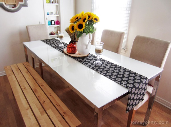 Reversible no sew table runner