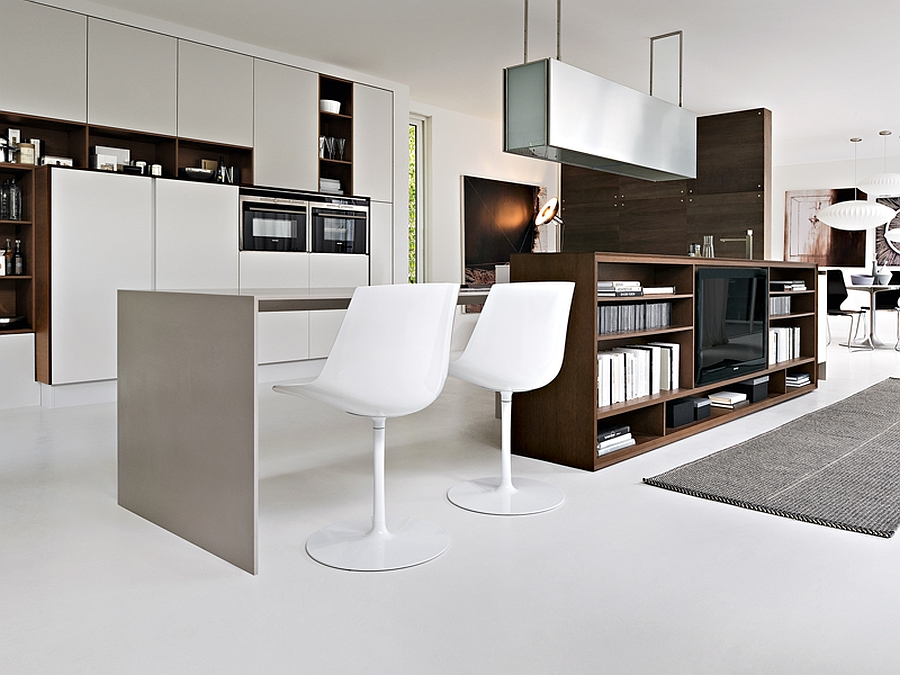 Seating space at the breakfast nook