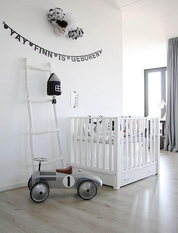 Sleek Scandinavian style in the nursery