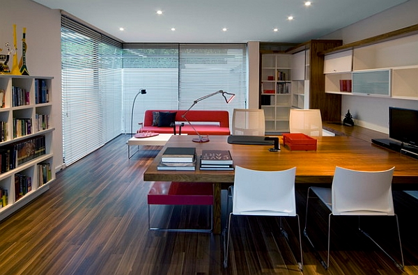 Sleek and stylish home conference room