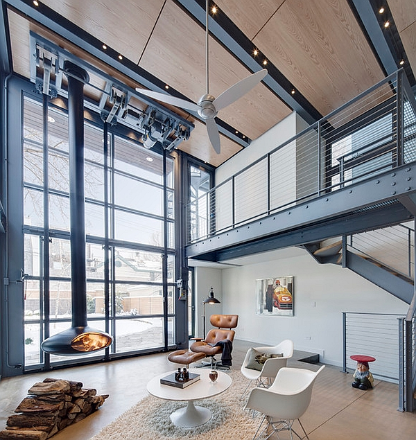 Inspirational mezzanine floor designs to elevate your Industrial home plans