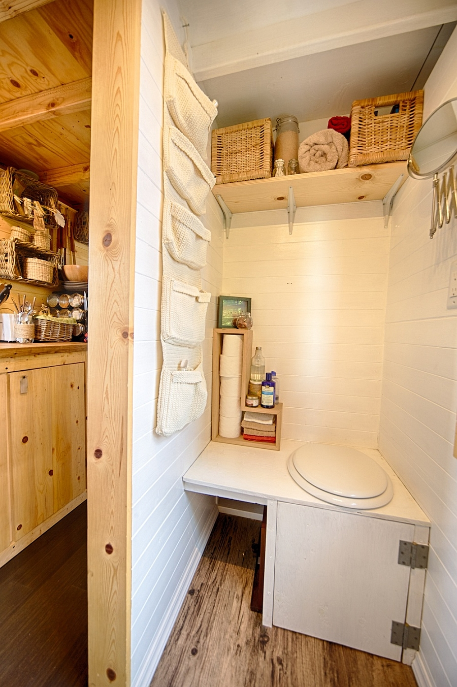 Small toilet space design