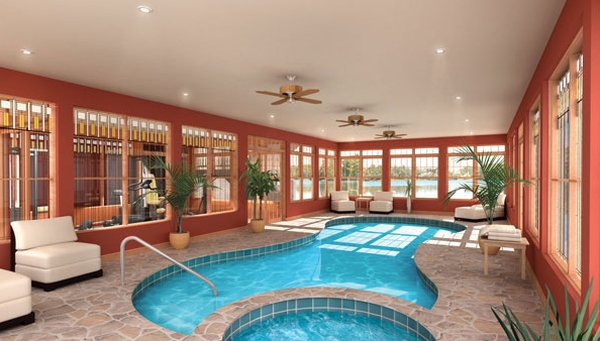 view in gallery smart design and glass windows add elegance to the space - Design A Swimming Pool