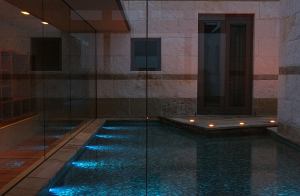 Smart indoor reflecting pools provide a calm, private sanctuary