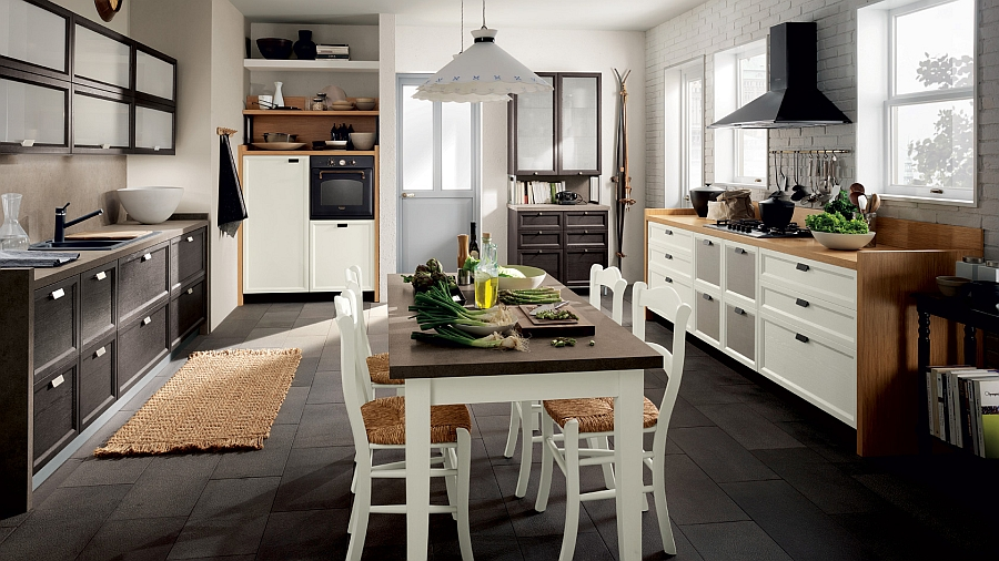 Smart modern kitchenw ith plenty of storage space