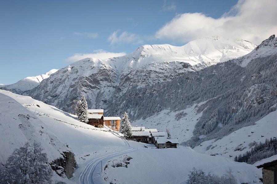 Snow clad peaks of Leis in wintertime