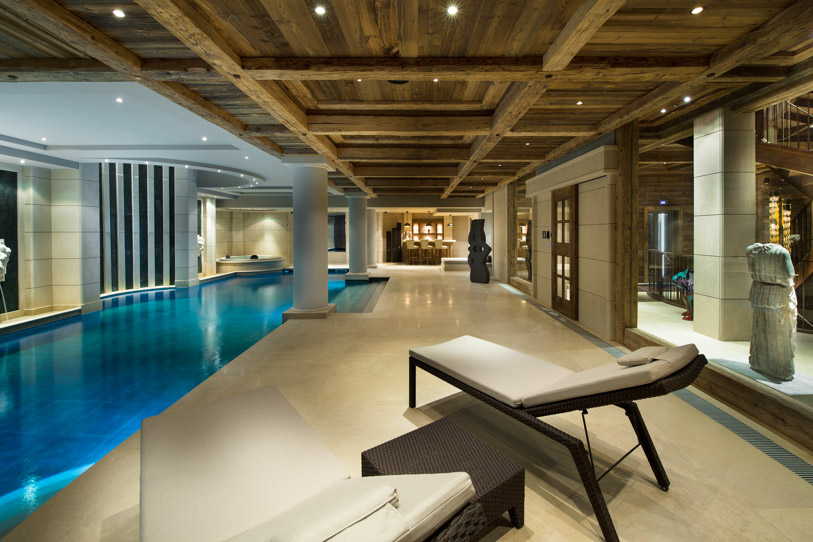 Spa-like setting inside Chalet Edelweiss
