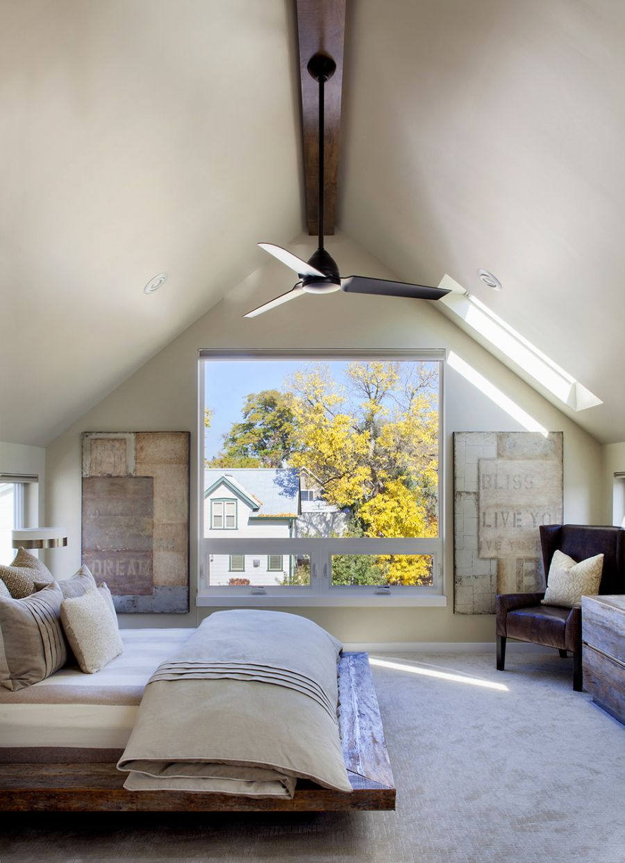 Spacious bedroom in the attic