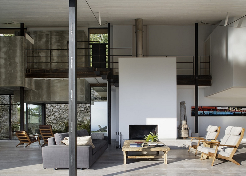 Spacious interior of the sustainable home