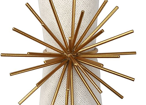 Spiky gold napkin ring