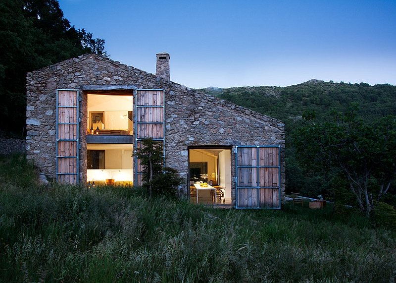 Stone stable renovated into a modern home Rustic Spanish Stable Renovated Into A Sustainable Modern Home