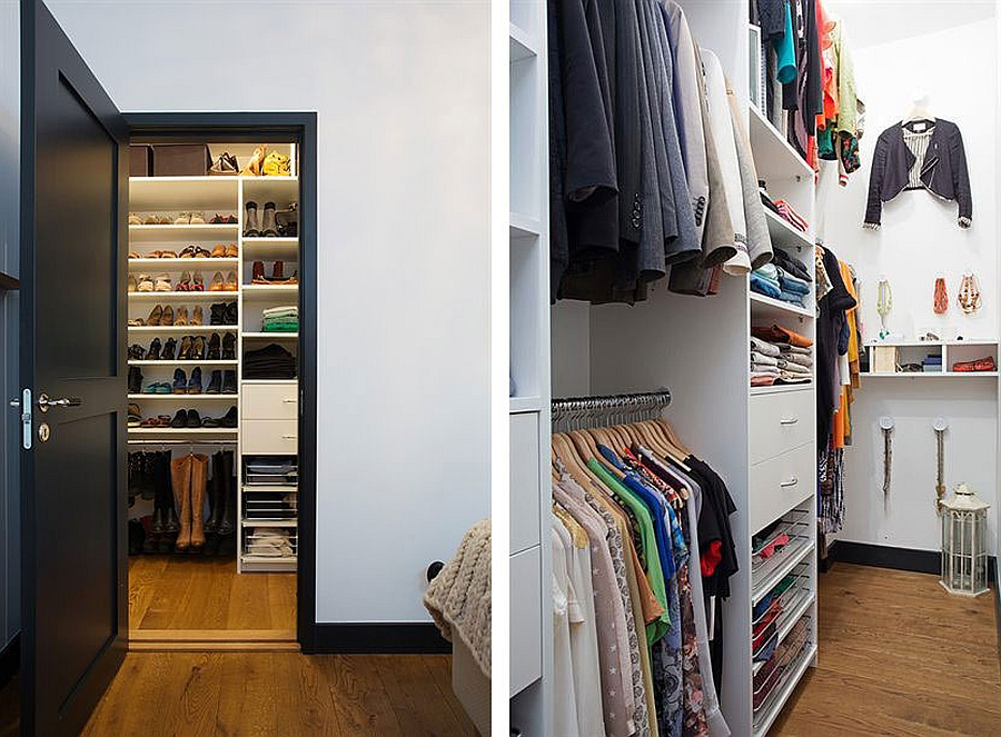 Storage and closet space in the bedroom