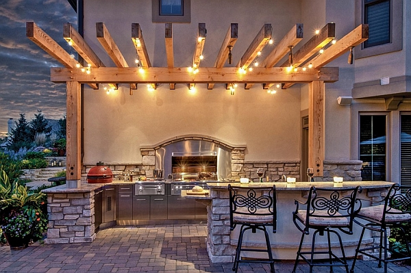 string lights are convenient to work with in large outdoor patios