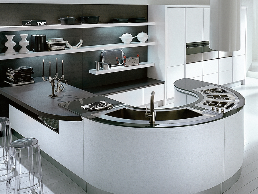 Stunning modern kitchen island design