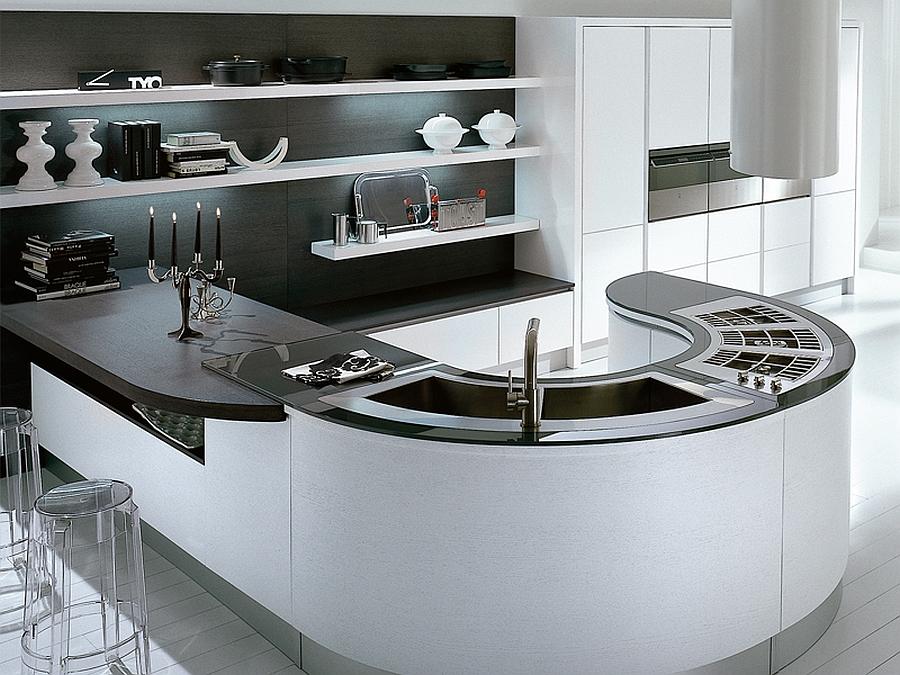 Stunning modern kitchen island design