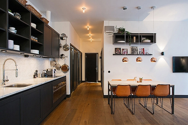 Stylish Apartment in Stockholm housed in a Renovated Straw Hat Factory