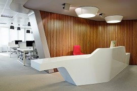 Stylish Minimalist Office of Inaugure Hospitality Group by YLAB