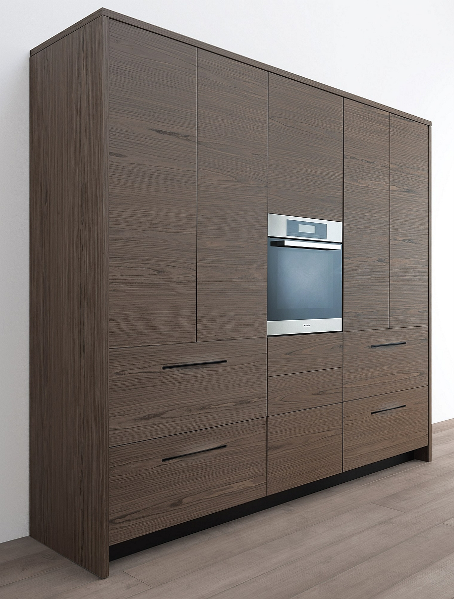Stylish cabinets of contemporay wooden kitchen