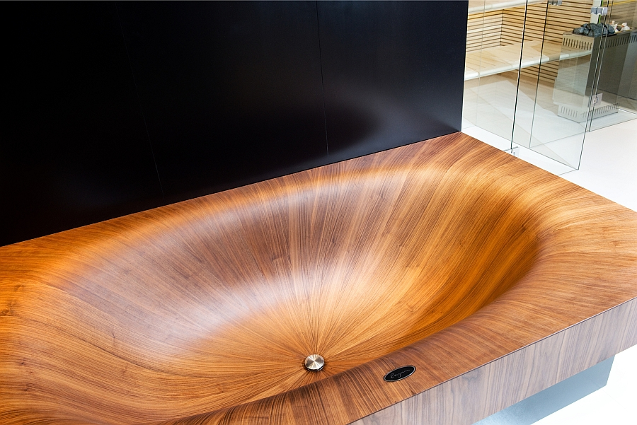 Stylish modern wooden bathtubs