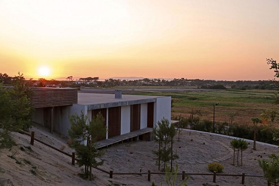 Sunset at the Pego Beach Villa