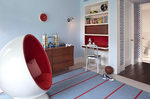 The Ball Chair is a perfect fit in the vivacious kids' room