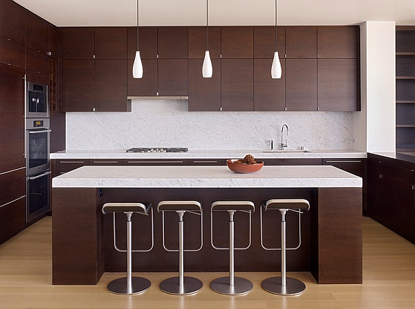 The LEM Piston Stool is perfect for contemporary kitchens