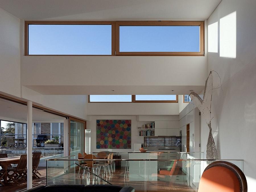 Top floor living area with bay views