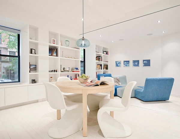 Usher in light blue with decor additions