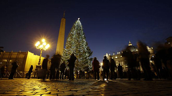 Vatican City Christmas tree