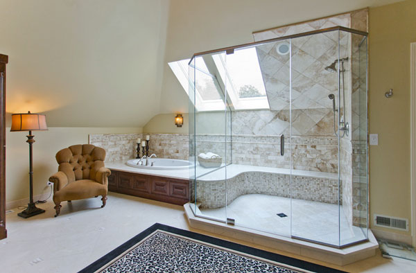 view in gallery vedco design group - Bathtub Shower Combo Design Ideas
