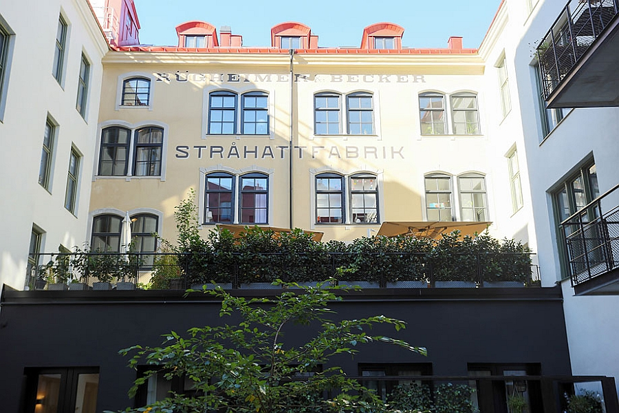 View of the renovated Stråhattfabriken in Sweden Gorgeous Apartment In Stockholm Nestled In A Renovated Straw Hat Factory