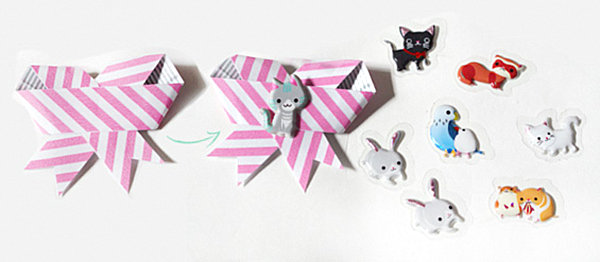 Washi tape gift bow