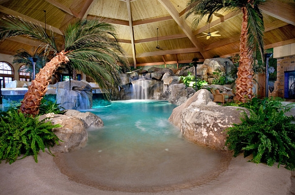 home alone dog pool slidejpg cool pools with waterfalls in - Cool Pools With Waterfalls In Houses
