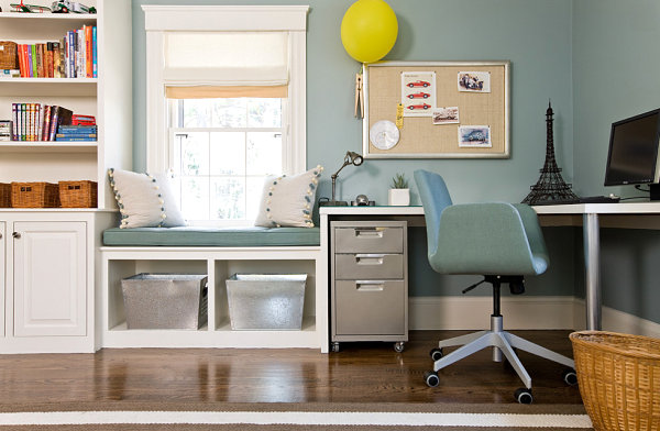 Window seat ideas for a comfy interior Study table facing window
