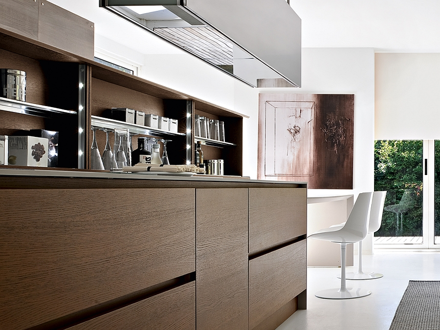 Trendy Contemporary Kitchen With Sizzling Style And Savvy Storage - Integra furniture