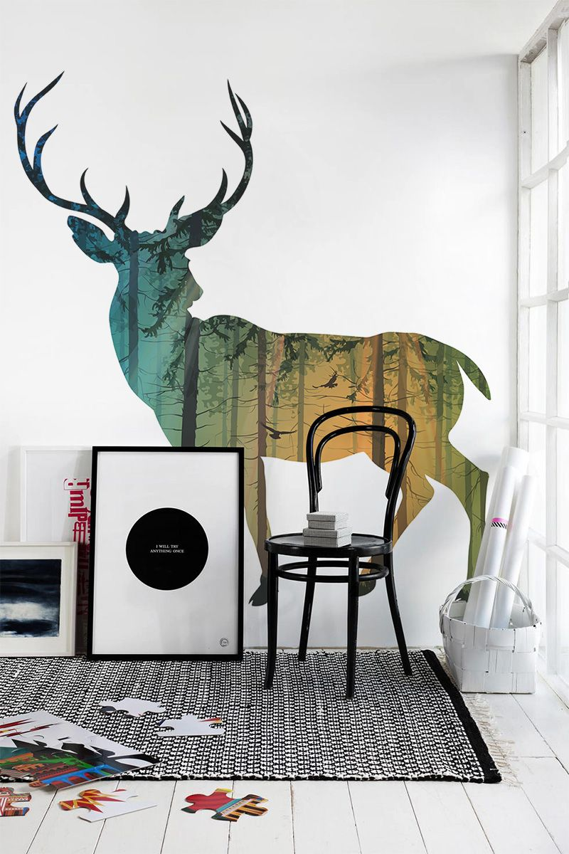 10 breathtaking wall murals for winter time for Beautiful wall mural