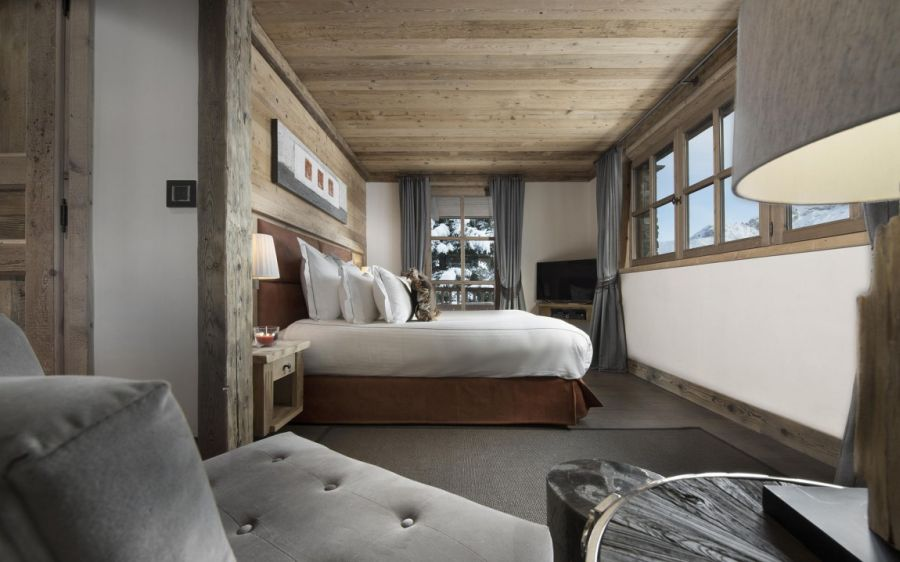 bedrooms at Chalet pearl with magnificient views