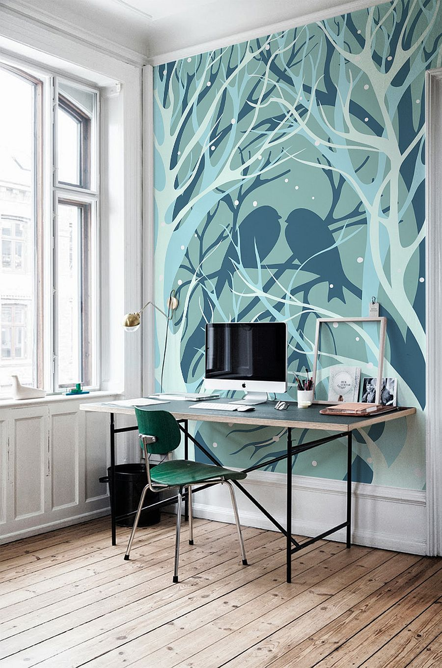 Wallpaper Murals birds and trees wall mural