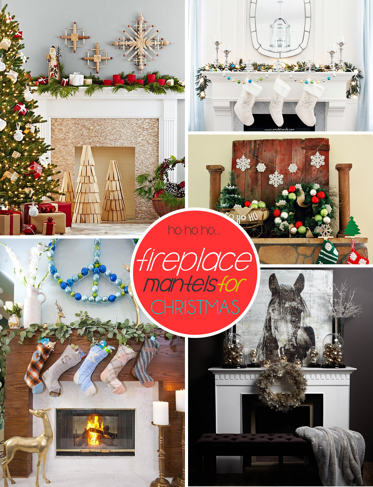 christmas fireplace mantles Mantel Mania: 50 Festive Mantel Decorating Ideas For A Magical Christmas!