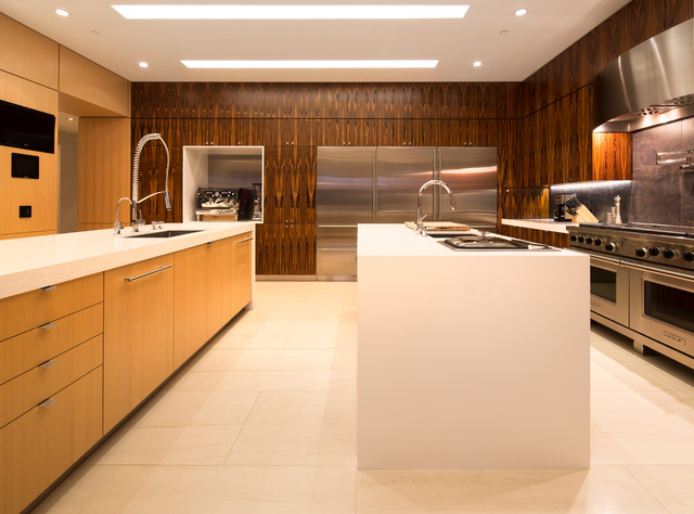 contemporary his and hers kitchen design