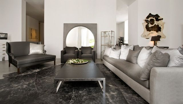 contemporary living room mirror