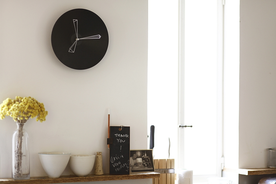 stylish and dynamic wall clocks add minimalist appeal to