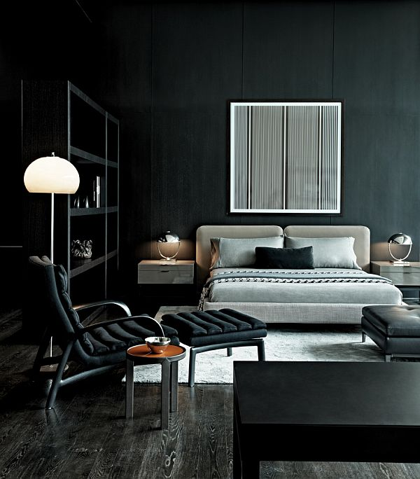 Monochromatic decorating ideas and their stylish appeal - Dark bedroom designs ...