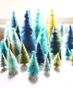 diy brush christmas tree